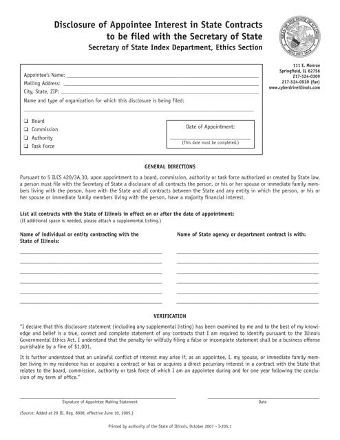 Form I-205  Fillable Pdf