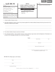 Form LLC 9.8 Form LLC-35.15 - Statement of Termination - Illinois