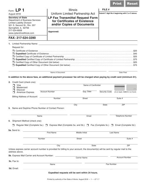 Form LP1  Printable Pdf