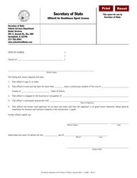 "Form RA6.7 ""Affidavit for Remittance Agent License"" - Illinois"