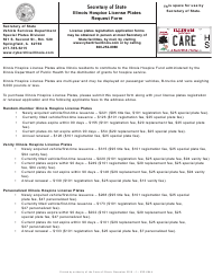 "Form VSD684 ""Illinois Hospice License Plates Request Form"" - Illinois"