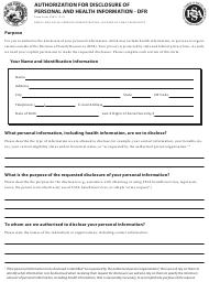 State Form 54621 Authorization for Disclosure of Personal and Health Information - Indiana