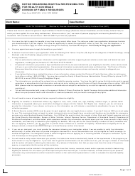 State Form 55367 Form Dfr 0009m - Notice Regarding Rights & Responsibilities for Health Coverage - Indiana