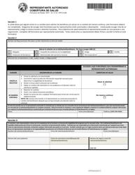 """Formulario del Estado 55371 (DFR2123S) """"Representante Autorizado Cobertura De Salud"""" - Indiana (Spanish)"""