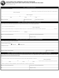State Form 49044 Request for Leave and Verification of Services Provided - State Employee Community Service Program - Indiana