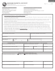 "State Form 52408 ""Microform Transmittal and Receipt"" - Indiana"