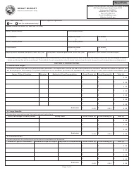 "State Form 54237 ""Grant Budget"" - Indiana"
