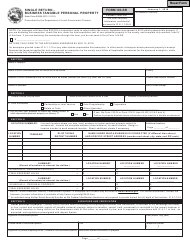 State Form 53854 Form 103-sr - Single Return - Business Tangible Personal Property - Indiana
