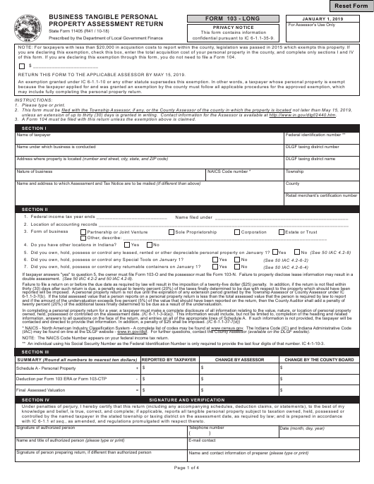 State Form 11405 Fillable Pdf