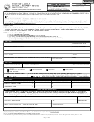 State Form 11274 Form 103 Short - Business Tangible Personal Property Return - Indiana