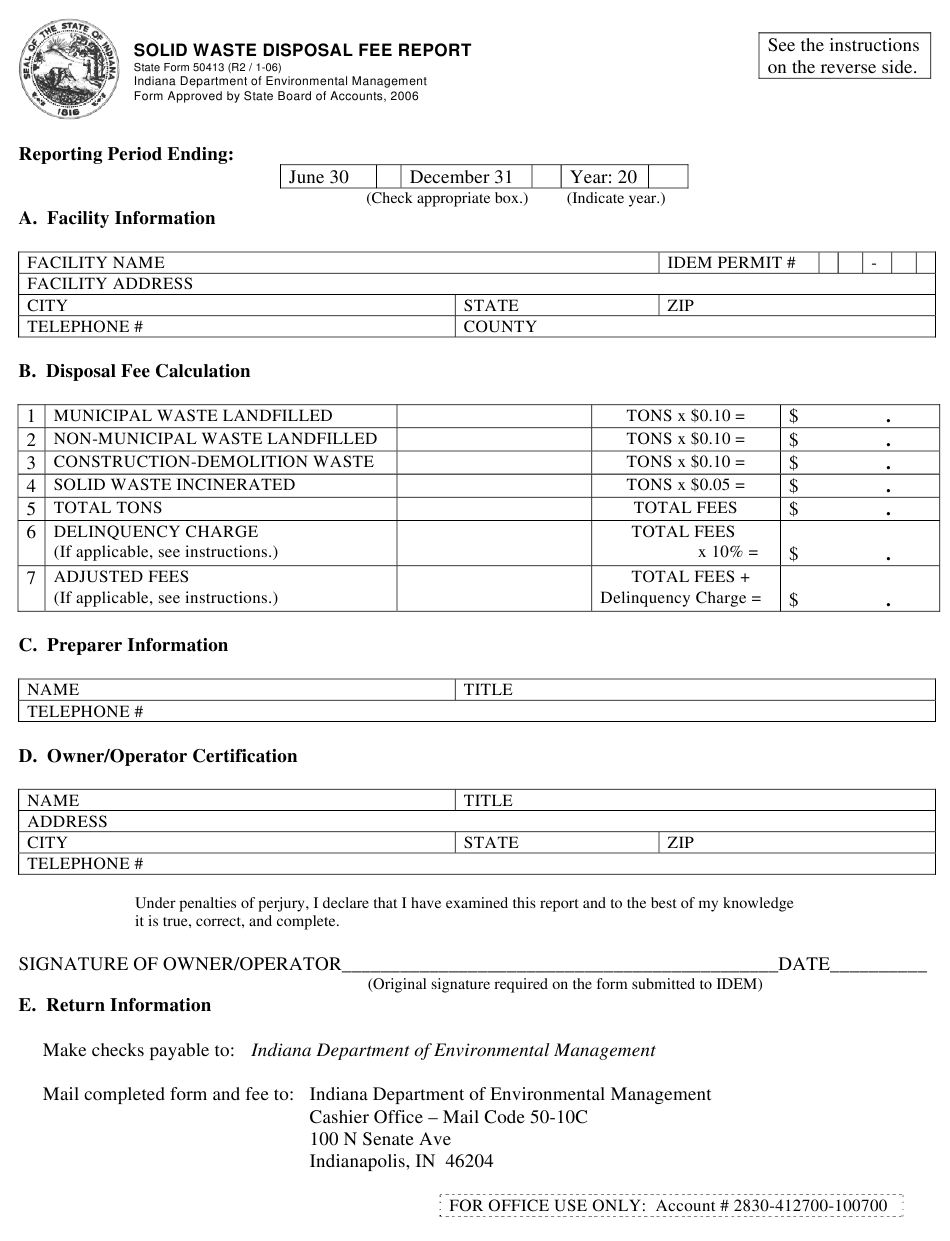 State Form 21 Download Printable PDF or Fill Online Solid Waste With Certificate Of Disposal Template