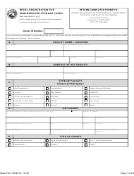 State Form 56548 Initial Registration for Underground Storage Tanks - Indiana