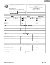 State Form 56554 Underground Storage Tank Closure Report - Indiana