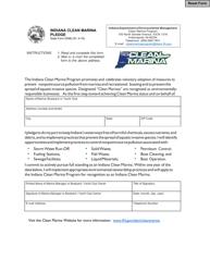 State Form 53582 Indiana Clean Marina Pledge - Indiana