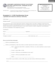 State Form 55623 Consumer Confidence Report Electronic Delivery Certification - Drinking Water - Indiana