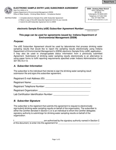 State Form 55656 Printable Pdf