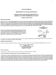 State Form 20094 Registration of a Significant Water Withdrawal Facility - Indiana