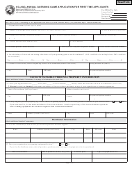 State Form 53660 Form Cg-Agg - Annual Guessing Game Application for First Time Applicants - Indiana