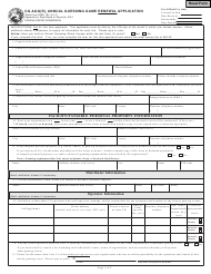 State Form 53661 Form Cg-Agg(R) - Annual Guessing Game Renewal Application - Indiana