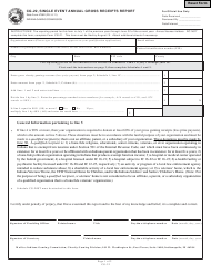 State Form 47862 Form Cg-22 - Single Event Annual Gross Receipts Report - Indiana
