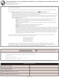 """State Form 45726 """"Application for Initial Licensure or Renewal of Licensure as a Boxing Promoter"""" - Indiana"""