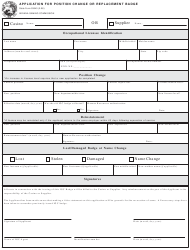 State Form 53543 Application for Position Change or Replacement Badge - Indiana