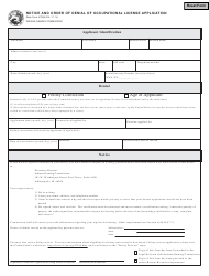 State Form 47368 Notice and Order of Denial of Occupational License Application - Indiana