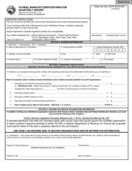 "State Form 51414 ""Cg-Mdq, Manufacturer/Distributor Quarterly Report"" - Indiana"