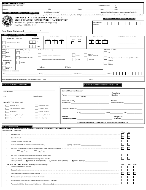 State Form 51201  Printable Pdf