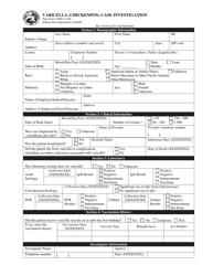 "State Form 53800 ""Varicella (Chickenpox) Case Investigation"" - Indiana"