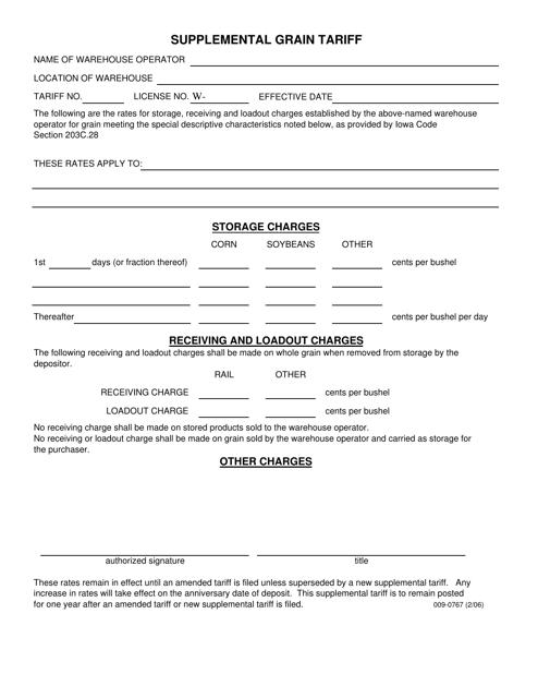 Form 009-0767  Printable Pdf