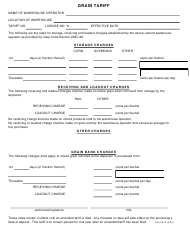 Form 009-0615 Grain Tariff - Iowa