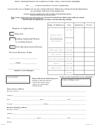 Commercial Meter License Application Form - Iowa