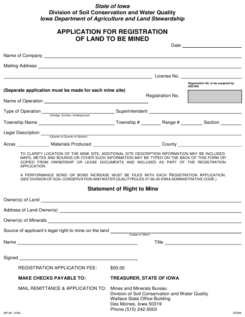 Form MP-08  Printable Pdf