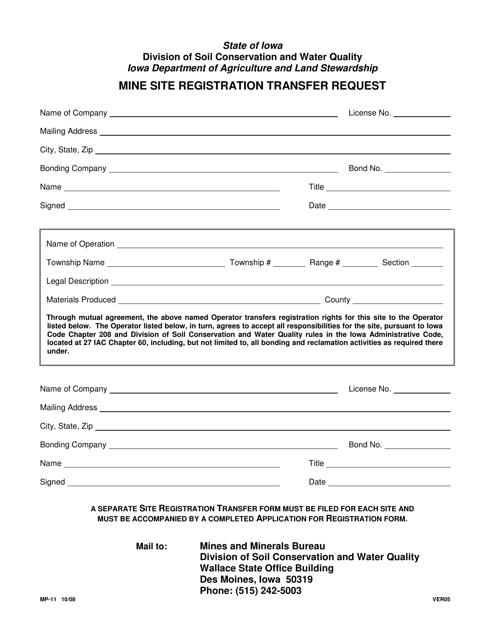 Form MP-11  Printable Pdf