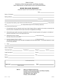 Form MP-10 Bond Release Request - Iowa