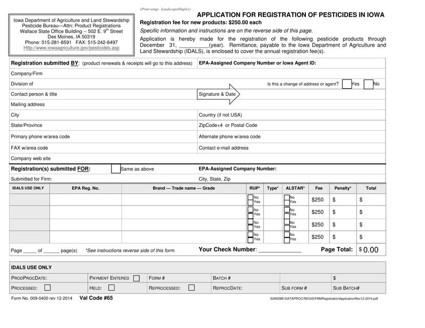 Form 009-0400  Printable Pdf