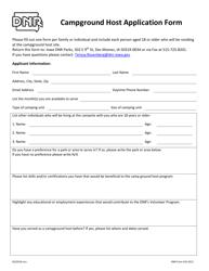 DNR Form 542-0221 Campground Host Application Form - Iowa