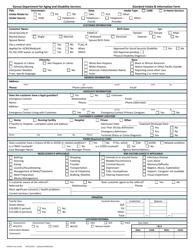 """KDADS Form SI-002 """"Standard Intake & Information Form"""" - Kansas"""