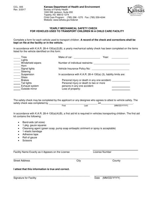Form CCL.005  Printable Pdf