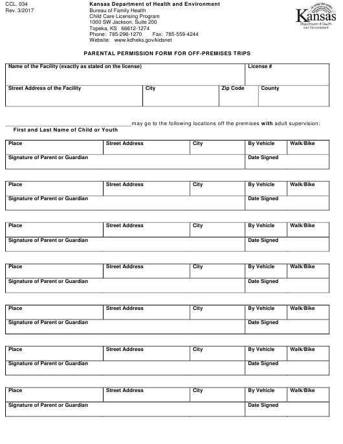 Form CCL.034  Printable Pdf