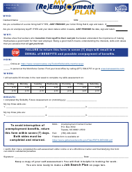 "Form K-BEN990 ""My (Re)employment Plan"" - Kansas"