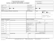 "Form CE-1 ""Partial Financial Disclosure Statement"" - Kansas"