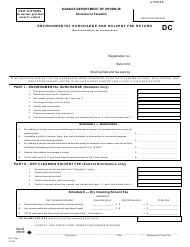 "Form DC-1 ""Environmental Surcharge and Solvent Fee Return"" - Kansas"