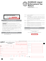 "Form LE-3 ""Kansas Liquor Enforcement Tax Return"" - Kansas"