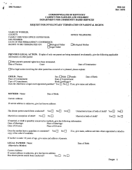 "Form DSS-161 ""Request for Involuntary Termination of Parental Rights"" - Kentucky"