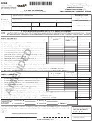"""Form 720X (41A720-S1) """"Amended Kentucky Corporation Income Tax and Corporation License Tax Return"""" - Kentucky"""