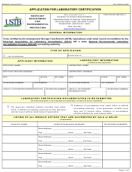 "Form DEP6074 ""Application for Laboratory Certification"" - Kentucky"