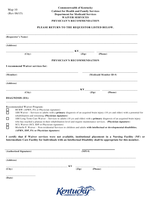 photograph relating to Printable Medicaid Application called Style Map 10 Down load Printable PDF, Waiver Expert services
