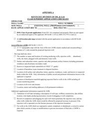 "Appendix A ""Class Ii Permit Application Checklist"" - Kentucky"